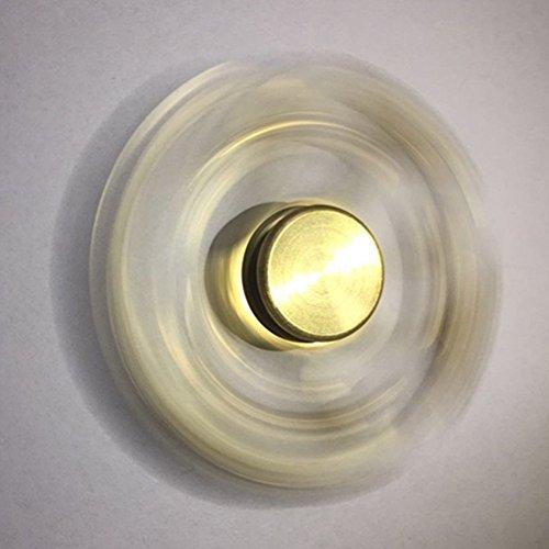 EDC Hand Fidget Tri-Spinner Finger Spinner Focus Reduce Stress Tool (Gold) -