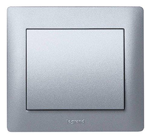 Legrand galea life - Tecla aluminio para interruptor conmutador cruzamiento y pulsador...