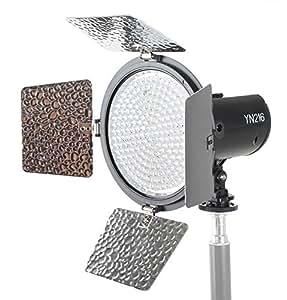 Yongnuo Kamera /- Video LED Videoleuchte YN -216 216x LED 5.500K. Professionelle Videoleuchte mit 2000 Lumen! Inklusive Lizzium Akku und Ladegerät!