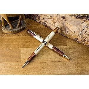 2 x Edel Holzkugelschreiber inkl. Gravur