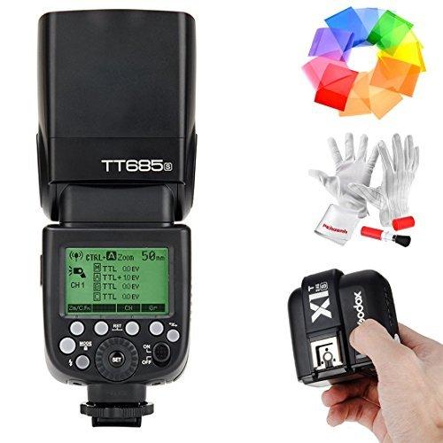 Godox TT685S Blitzgerät HSS 1/8000S GN60 TTL Kamerablitz Flash Speedlite mit X1T-S 2.4G TTL Kabellos Blitz Auslöser für Sony DSLR-Kameras mit Multi Interface Shoe A77II A7RII -