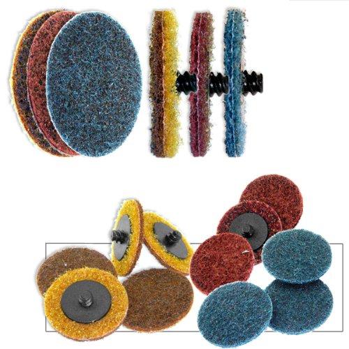 50 sehr feine Schnellwechselscheiben für Oberflächenpflege, 2,5 cm Radpads, 50 Stück