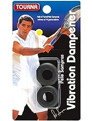Unique Tourna Sampras Tennis Vibration Dampener Shock Absorber - Black, 2-Pack