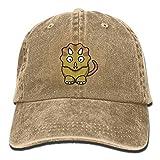 Cartoon Comic Dinosaur Unisex Washed Adjustable Fashion Cowboy Hat Denim Baseball Caps