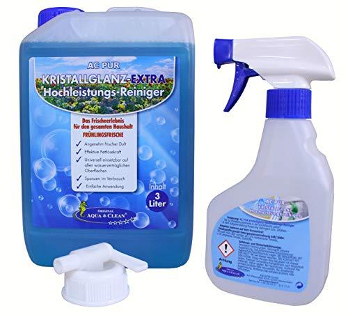 AQUA CLEAN PUR Kristallglanz Extra Hochleistungsreiniger mit Frischeduft 3l (Frühlingsfrische)