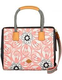 Oilily Flower Swirl Handbag Rose Flamingo