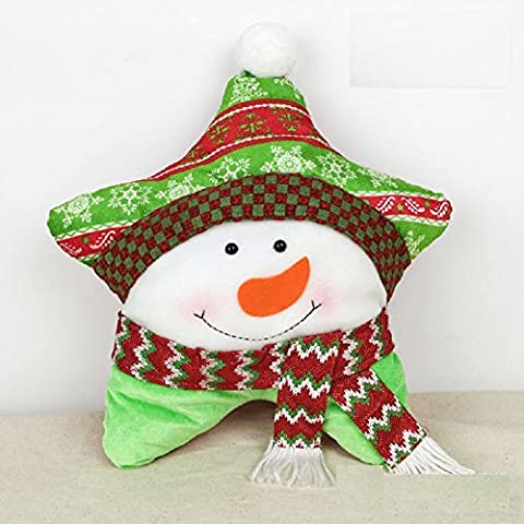 XJoel Christmas Snowman personalizzato stella Cuscino caso