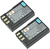 DSTE® 2x EN-EL9 Rechargeable Li-ion Battery for Nikon D40 D40x D60 D3000 D5000 Digital Camera as Nikon ENEL9 EN-EL9A