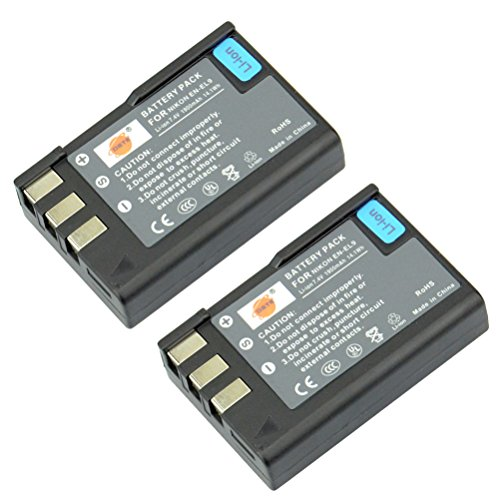 DSTE® 2x EN-EL9 Ricaricabile Li-ion Batteria per Nikon D40 D40x D60 D3000 D5000 Macchina Fotografica