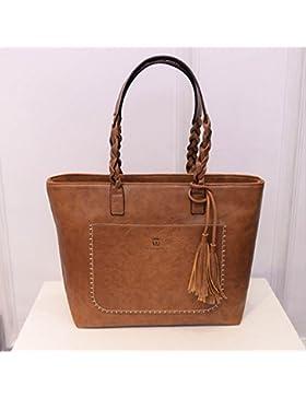 Elistelle Handtasche Damen Frauen Shopper Blog Tasche Schick und Groß Umhängetasche Farbwahl