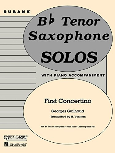 Georges Guilhaud: First Concertino (Tenor Saxophone)  Sheet Music