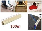 savingplus Teppich Schutzfolie selbstklebend 60Micron dick 60cm x 100m UK