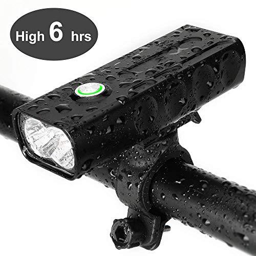 Fahrrad Scheinwerfer USB wiederaufladbare 1000 Lumen Fahrrad Frontleuchte hoch hell 6 Stunden Mountain Road Radfahren Sicherheit Pendler Taschenlampe mit 3 Modi ipx5 wasserdicht Fahrrad Licht
