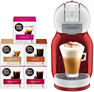 Nescafe Dolce Gusto Mini Me Coffee Machine (with 5 Capsule Boxes), Red