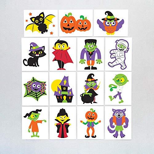 """Baker Ross Tattoos """"Halloween"""" für Kinder – perfekt als Kleine Überraschung für Halloween-Partys (24 Stück)"""