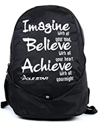 "POLE STAR ""BUDDY"" 31 Lt Black Lite weight Casual Backpack I School Bag"