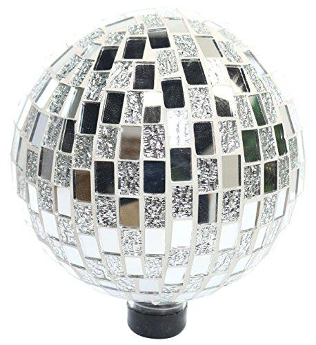 Alpine Corporation Mosaic Silver Gazing Ball