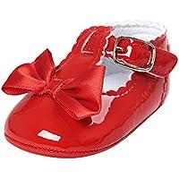 Matt Keely Bambine Principessa Bowknot Scarpe infantile Suola morbida PU Sneakers CI26jUr