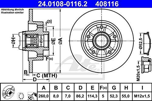 ATE 24010801162 Disque de frein