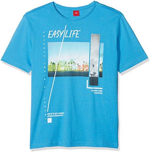 s.Oliver Jungen T-Shirt 61.804.32.5151, Blau (Blue 6431), 152 (Herstellergröße: M/REG)