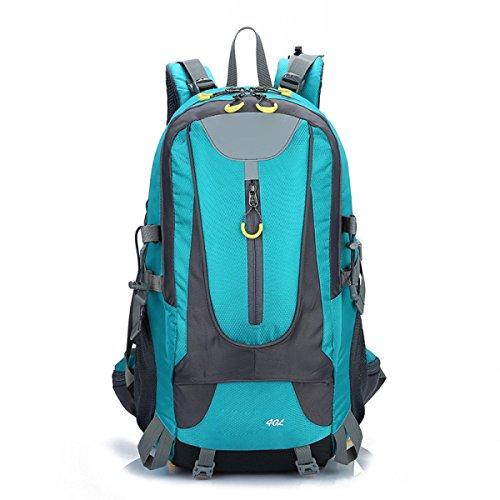 Zaino Zaino Escursionismo Alpinismo All'aperto Viaggiare Casual Daypack Borse Ad Alta Capacità,Black LakeBlue