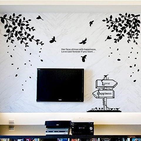 Un idilliaco wall art sticker paesaggi soggiorno TV poster murali