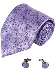 YAB1B10 Presenta Multicolor Patr¨®n de Trabajo Idea para hombre corbata de seda 2PT por Y&G