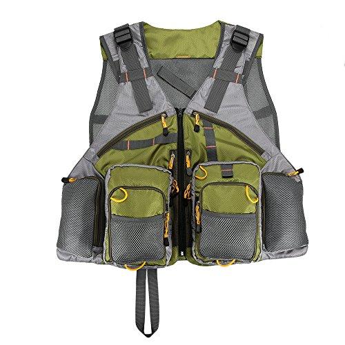 Lixada gilet da pesca maglia gilet regolabile pesca a mosca per gli uomini e le donne premium gear pack