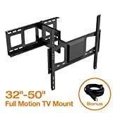 FLEXIMOUNTS V2 Full motion Swivel Tilt and Rotate TV wall mount fits for most of 32'-50' LCD LED TV