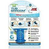 TubShroom - El protector de tubería de bañera revolucionario atrapador de pelo/filtro/colador azul