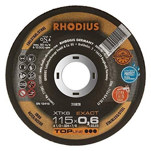 RHODIUS extra dünne INOX Trennscheiben Metall XTK6 EXACT Ø 115 mm für Winkelschleifer Metalltrennscheibe 50 Stück
