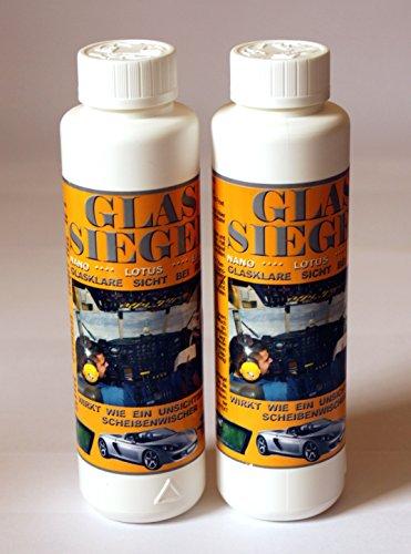 Glas-Siegel je 250ml (2 Flaschen) Scheibenversiegelung Glassiegel Lotus Effekt 299