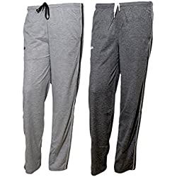 IndiWeaves Women Premium Cotton Lower with 1 Zipper Pocket and 1 Open Pocket(Pack of 2)_Grey::Grey-42