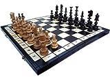 ChessEbook Edles Schachspiel OLD POLISH 58 x 58 cm Holz, Handgeschnitzt