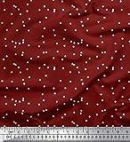 Soimoi Rot strahlkrepp Stoff Polka dots Stoff Meterware 46