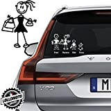 Mamma Shopping Vetro Auto Famiglia StickersFamily Stickers Family Decal - Bianco Opa