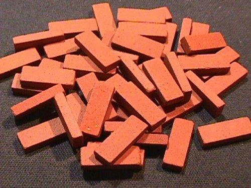 Preisvergleich Produktbild Terrakotta-Klinkersteine, rechteckig für das Puppenhaus