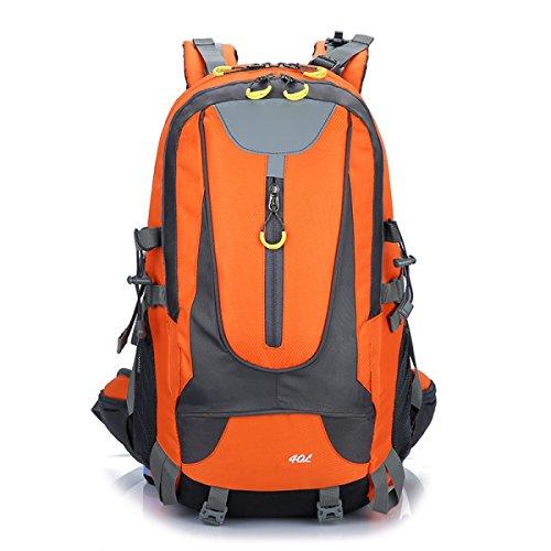 Zaino Zaino Escursionismo Alpinismo All'aperto Viaggiare Casual Daypack Borse Ad Alta Capacità,Black Orange