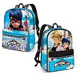 Karactermania Ladybug Courage-Reversible 2-in-1 Backpack Sac à Dos Enfants, 40 cm, 13 liters, Bleu (Blue)