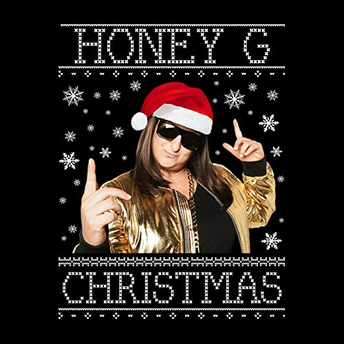 Honey G Christmas Knit Men's Vest Black