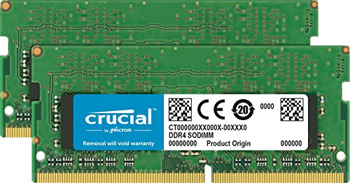 Crucial CT2K16G4S266M 32GB Speicher Kit (16GB x2) (DDR4, 2666 MT/s, PC4-21300, CL19, Dual Rank x8, SODIMM, 260-Polig für Mac) -
