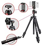 Manfrotto MKSCOMPACTLTBK Compact Light Smart Tripod with Ball Head and Smartphone Clamp