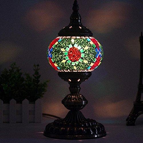 JUNMIN E14 LED Mediterraneo orientale stile alta den soggiorno camera da letto arredamento fatti a mano mosaico vetro lampada da tavolo , sgn