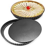 LSDD Bakeware 8 inch Nonstick & Quick Release Coating Loose Bottom Quiche Tart Pan, Tart Pie Pan, Round Ta