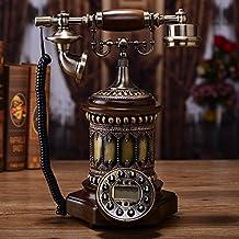 Motesuvar Retro Estilo Europeo Antiguo, Teléfono Fijo, El Hogar Moda, Teléfono Fijo, Caller Id,Saatchi - Tela De Lujo Cuerda Retroiluminación Torre Versión Manos Libres