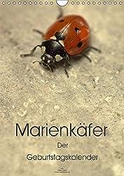 Marienkäfer -  Der Geburtstagskalender (Wandkalender 2017 DIN A4 hoch): Die kleine Welt der Marienkäfer in farbenfrohen Detailaufnahmen (Planer, 14 Seiten )