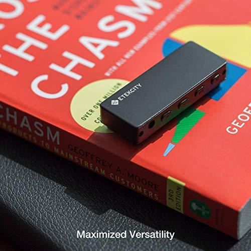 Etekcity 8GB Digitales Diktiergerät/Aufnahmegerät Digitalrecorder Sprachaufnahme Audio Voice Recorder & MP3 Player Spracherkennung für Vorlesungen, Konferenzen, Interviews usw, Schwarz