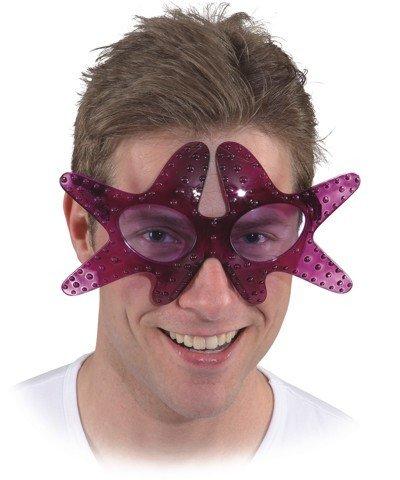 Lila Tintenfisch Kostüm - Brille Seestern, Farbe:lila