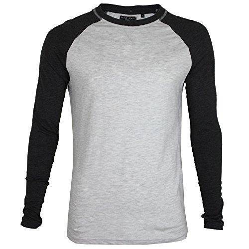 Brave Soul Herren T-Shirt * Ecru/Dark Charcoal