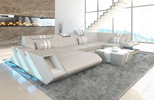 Sofa Dreams Apollonia Canapé en U avec appuie-tête réglable
